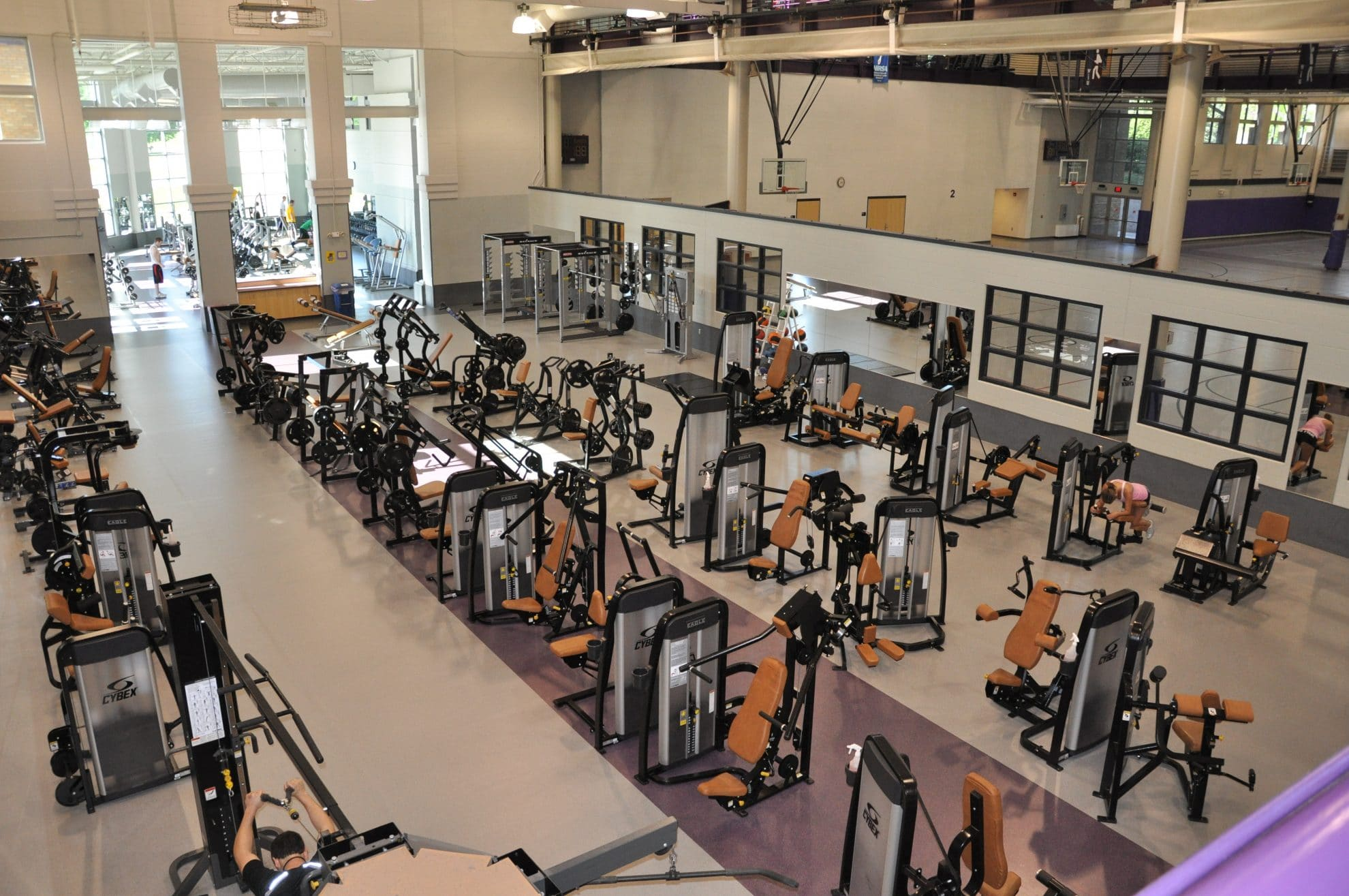 Upper view of workout room.