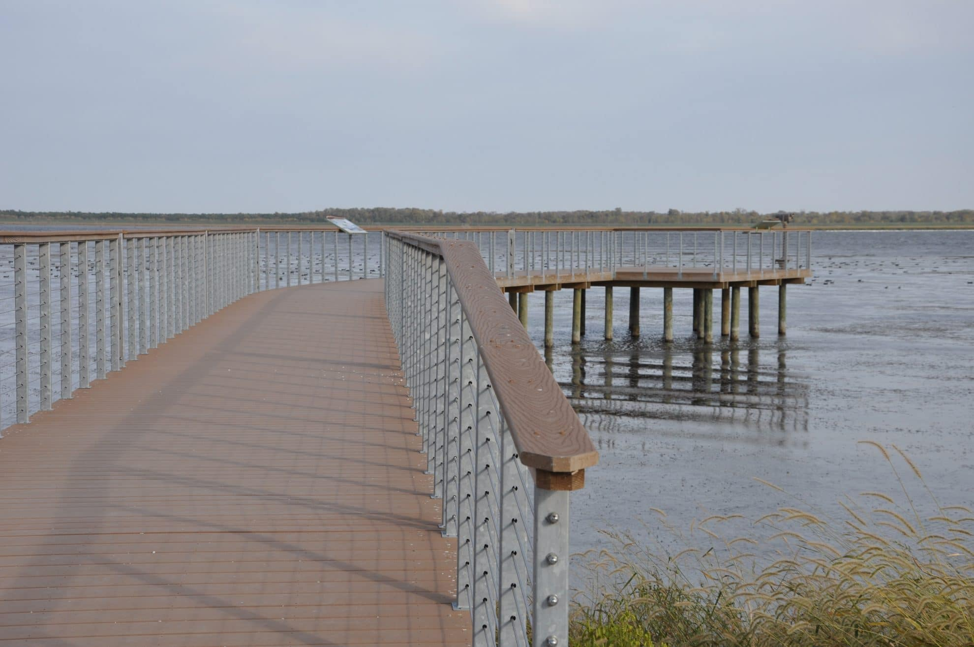 Walkway over water