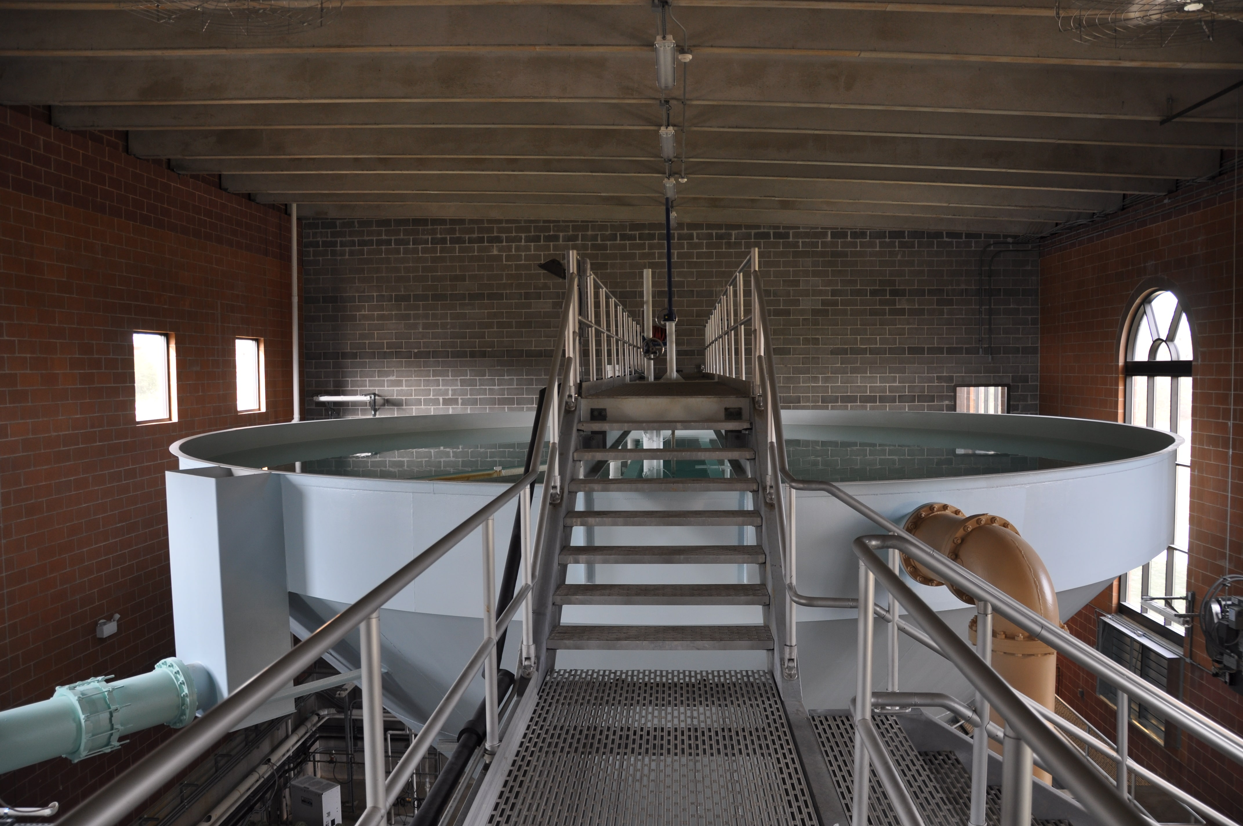 Water Treatment Tank with Stairs