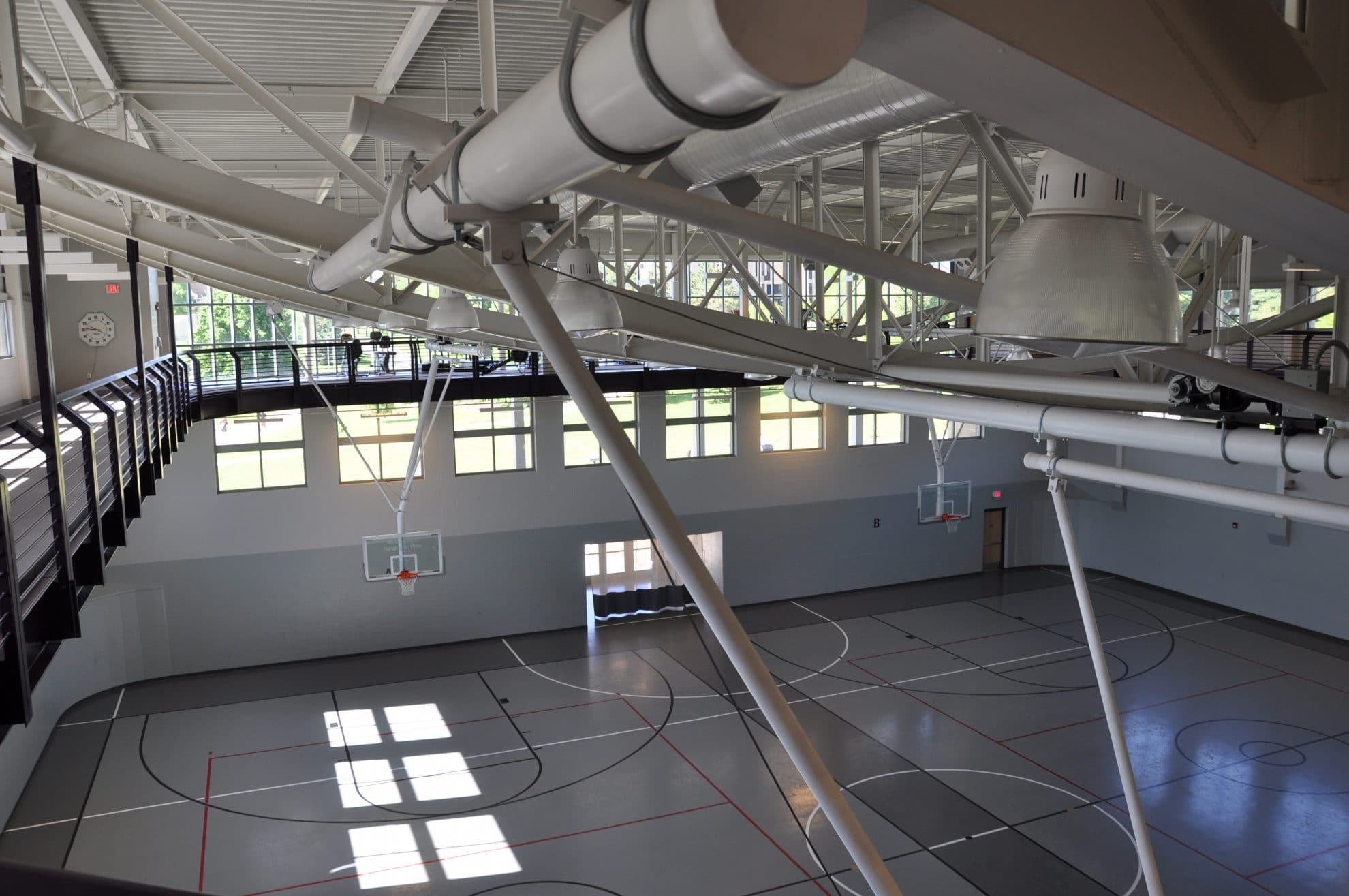 Upper view of gym